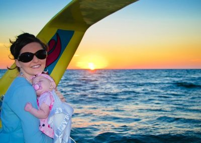 Mom and baby-Sunset Cruise